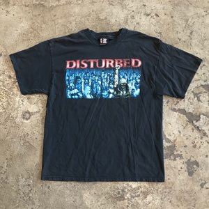 VINTAGE 90s DISTURBED ROCK CONCERT T SHIRT